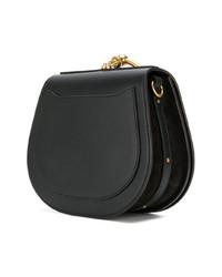 schwarze Lederhandtasche von Chloé