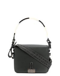 schwarze Lederhandtasche von Off-White
