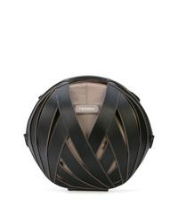 schwarze Lederhandtasche von Perrin Paris
