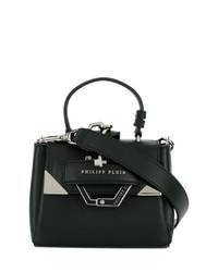 schwarze Lederhandtasche von Philipp Plein