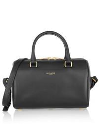 schwarze Lederhandtasche von Saint Laurent