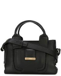 schwarze Lederhandtasche von See by Chloe