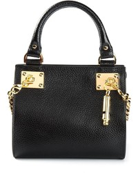 schwarze Lederhandtasche von Sophie Hulme