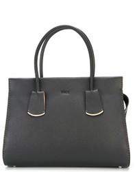 schwarze Lederhandtasche von Tod's