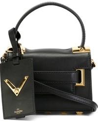 schwarze Lederhandtasche von Valentino Garavani
