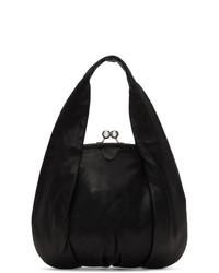 schwarze Lederhandtasche von Ys