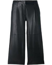schwarze Lederhose von MICHAEL Michael Kors