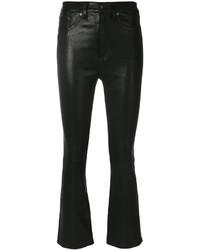 schwarze Lederhose von Rag & Bone