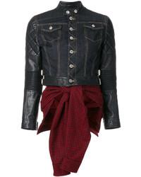 schwarze Lederjacke von Dsquared2