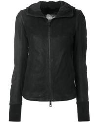 schwarze Lederjacke von Giorgio Brato
