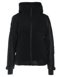 schwarze Lederjacke von Spyder