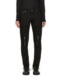 schwarze Lederjeans von Alexander McQueen