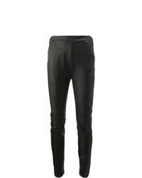 schwarze Lederleggings von Ilaria Nistri