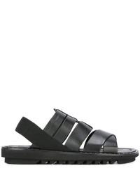 schwarze Ledersandalen von Dolce & Gabbana
