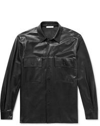 schwarze Shirtjacke aus Leder von The Row
