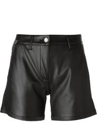 schwarze Ledershorts von Ermanno Scervino