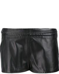schwarze Ledershorts von Maison Margiela