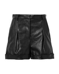 schwarze Ledershorts von Stella McCartney