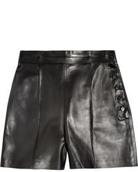 schwarze Ledershorts von Valentino