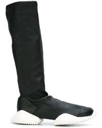 schwarze Lederstiefel von adidas