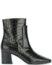 schwarze Lederstiefel von Givenchy