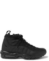 schwarze Lederstiefel von Nike