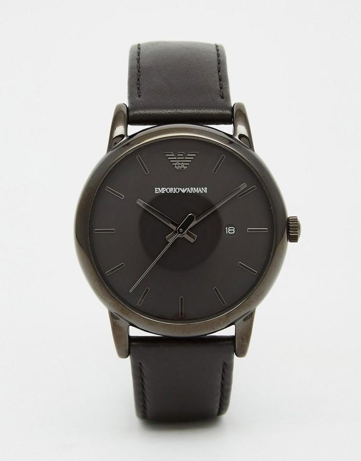68af5cc21925 schwarze Lederuhr von Emporio Armani   Wo zu kaufen und wie zu ...
