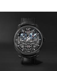 schwarze Lederuhr von Girard Perregaux