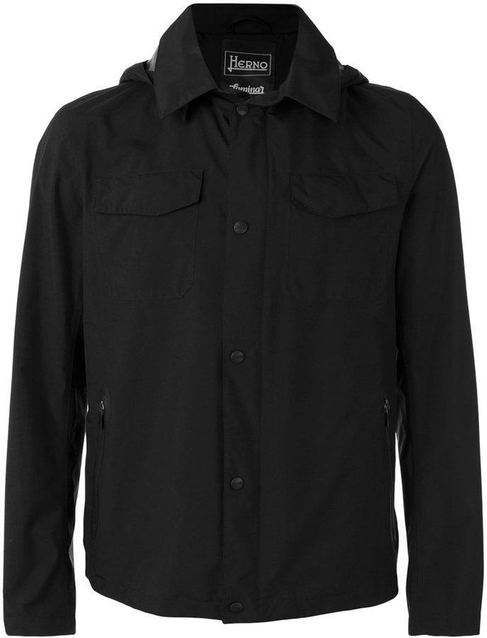 huge discount 4d607 b83db schwarze leichte Jacke von Herno