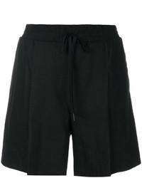 schwarze Leinen Shorts von DKNY