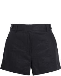 schwarze Leinen Shorts von J.Crew