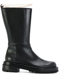 schwarze mittelalte Stiefel von Marni
