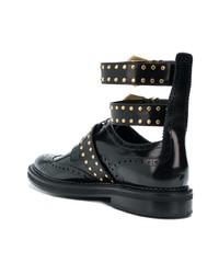 schwarze Monks aus Leder von Versace