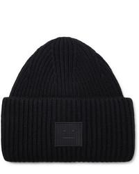 schwarze Mütze von Acne Studios