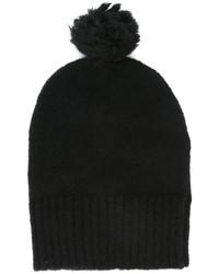 schwarze Mütze von AMI Alexandre Mattiussi