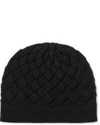schwarze Mütze von Bottega Veneta