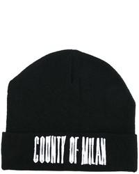 schwarze Mütze von Marcelo Burlon County of Milan