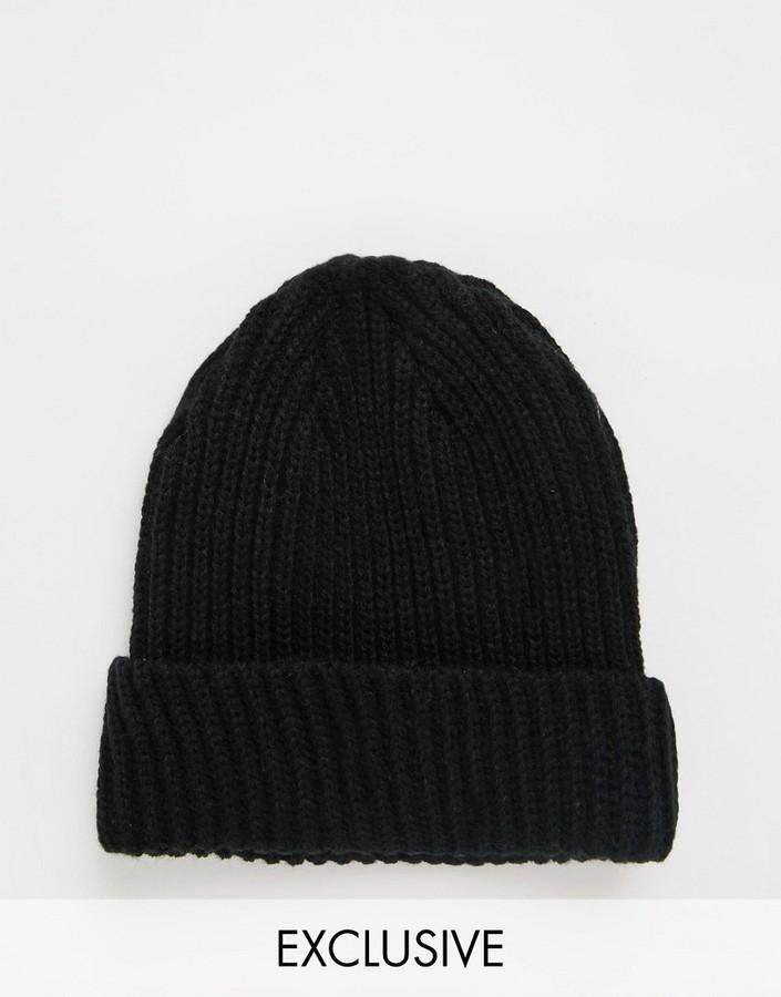 schwarze Mütze von Reclaimed Vintage