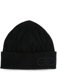 schwarze Mütze von Salvatore Ferragamo