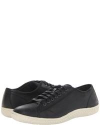 schwarze niedrige Sneakers