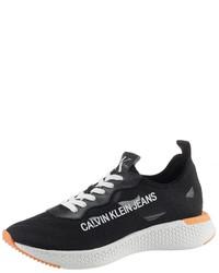 schwarze niedrige Sneakers von Calvin Klein