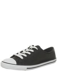 schwarze niedrige Sneakers von Converse