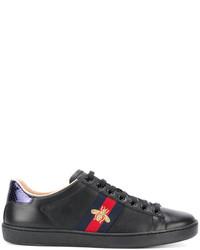 schwarze niedrige Sneakers von Gucci