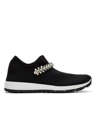schwarze niedrige Sneakers von Jimmy Choo