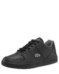 schwarze niedrige Sneakers von Lacoste