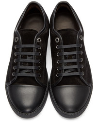 Schwarze Niedrige Sneakers von Lanvin