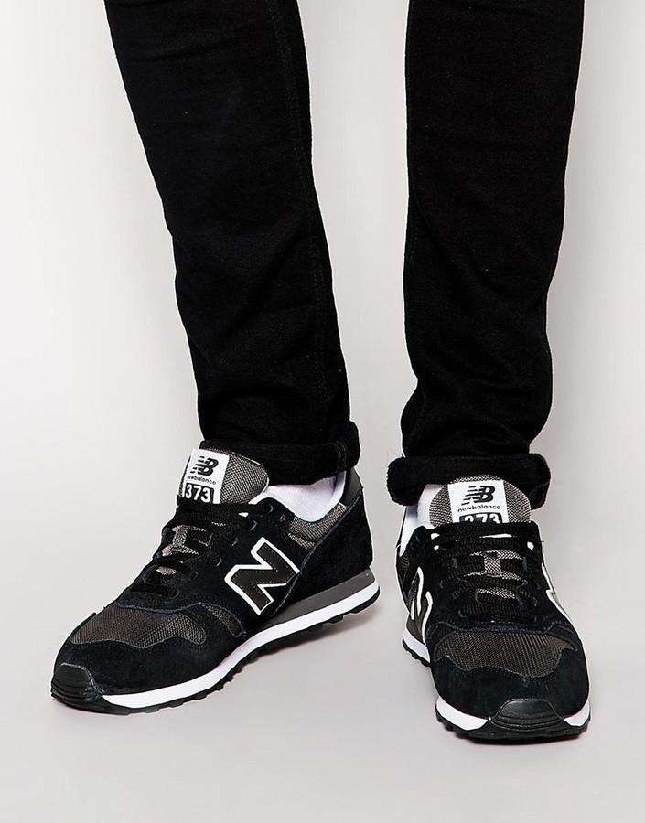 schwarze new balance 373 kua2cc8521