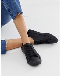 schwarze niedrige Sneakers von New Look