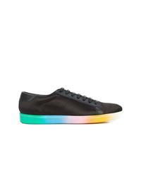 schwarze niedrige Sneakers von Saint Laurent