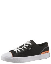 schwarze niedrige Sneakers von Superdry